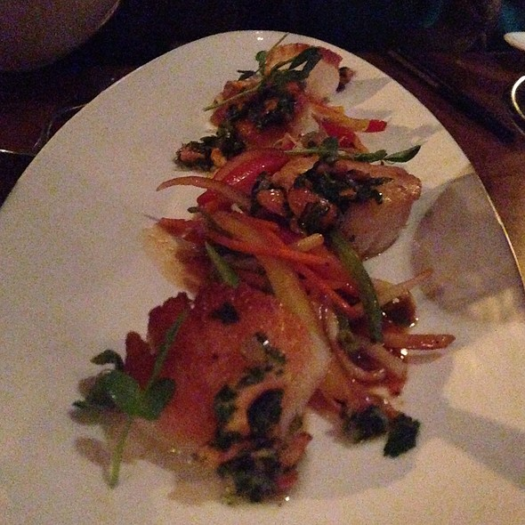Diver Scallops Vegetable Pad Thai With Cashew Gremolata - ChoLon Modern Asian, Denver, CO