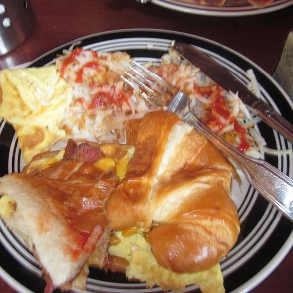 Breakfast Croissant Sandwich - Hamburger Mary's, West Hollywood, CA