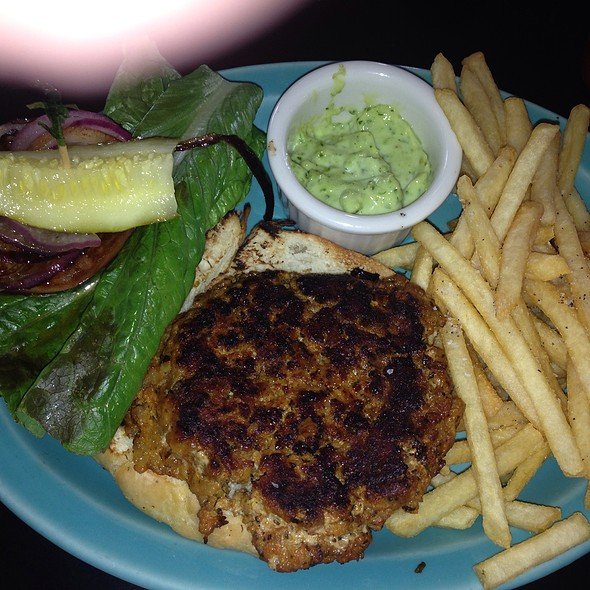 "Bayou ""Gator And Pork Sausage"" Burger - Spats Cafe and Speakeasy, State College, PA"
