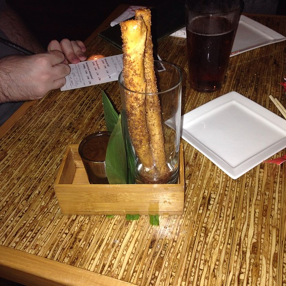 Vanilla Cheesecake Spring Rolls - Kapow! Noodle Bar, Boca Raton, FL