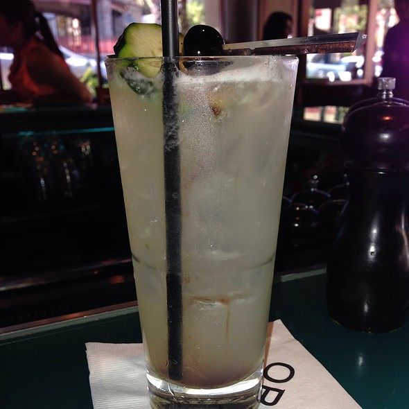 Cucumber Collins With Bluberry Cucumbers - OPAH Restaurant & Bar @ Town Center Aliso Viejo, Aliso Viejo, CA