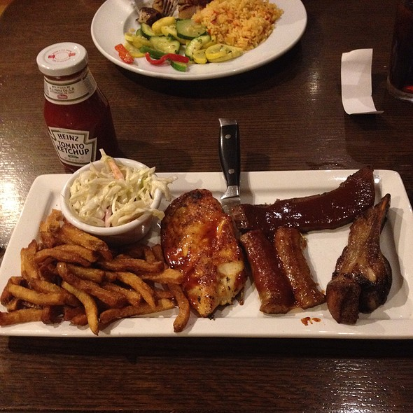 BBQ Combination Plate - Broad Axe Tavern, Ambler, PA
