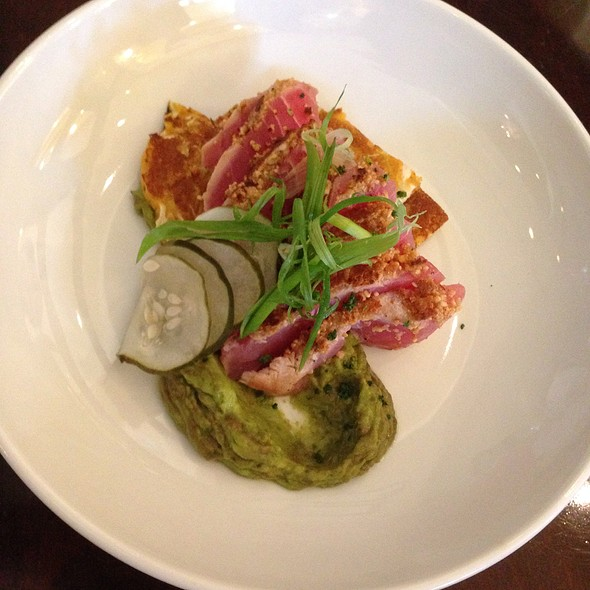 Ahi Tuna, Saffron Cabbage Pancake - Roux - Hilton Asheville, Asheville, NC