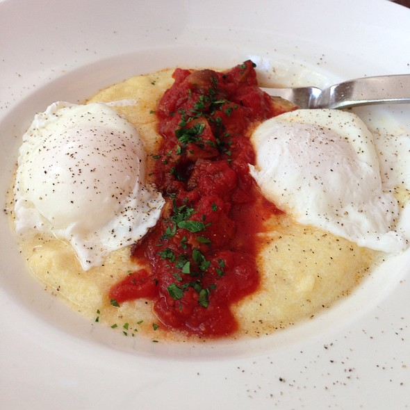 Creamy Polenta And Poached Eggs - Miranda Restaurant, Brooklyn, NY