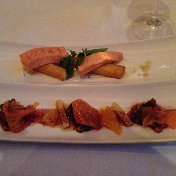 Blood Orange Gravlax And Smoked Ora King Salmon - Aureole - Las Vegas, Las Vegas, NV