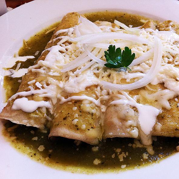 Enchiladas Verdes Gratinadas - El Naranjo, Austin, TX