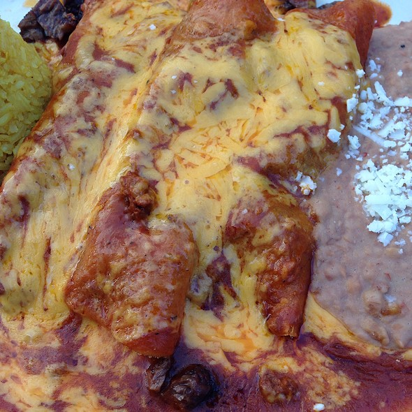 Enchiladas al Carbon - Ninfa's on Navigation, Houston, TX