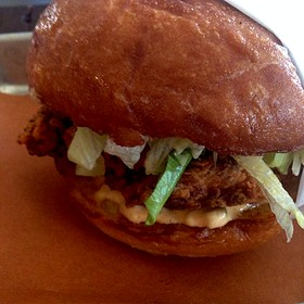 Fried Chicken Sandwich - The Hollywood Tavern, Woodinville, WA