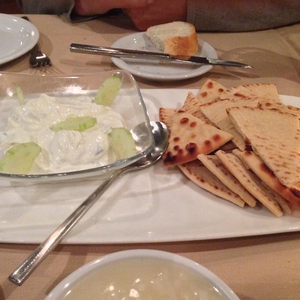 Pita With Yogurt And Cucumber - Avli Restaurant, Winnetka, IL