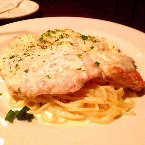 Chicken Parmesan With Alfredo Sauce - Frankie's Pizzeria & Scaloppine, Chicago, IL