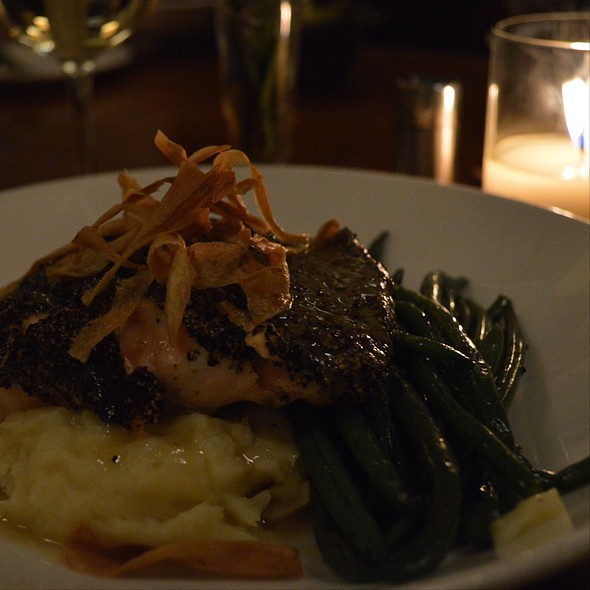 Black Pepper Salmon - Print Works Bistro, Greensboro, NC