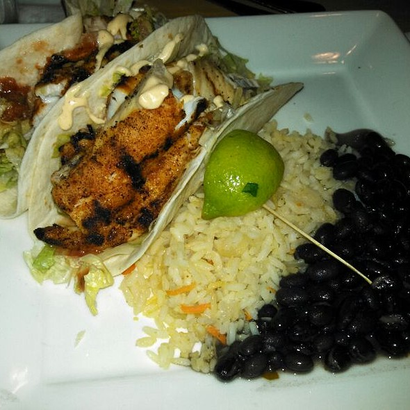 Blackened Fish Tacos - Village Tavern Greensboro, Greensboro, NC
