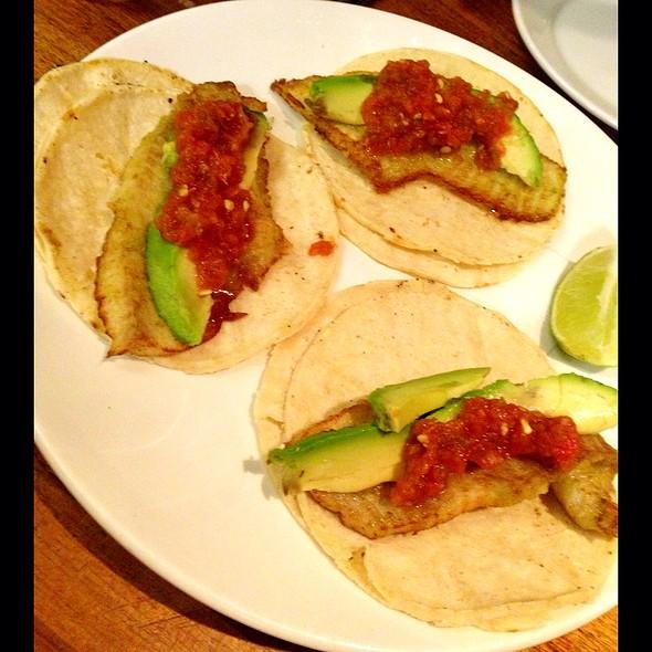 fish tacos - Sanctuary T, New York, NY