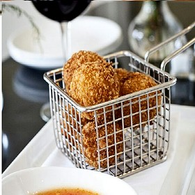 Pimento Cheese Fritters - Southerly Restaurant and Patio, Mount Pleasant, SC