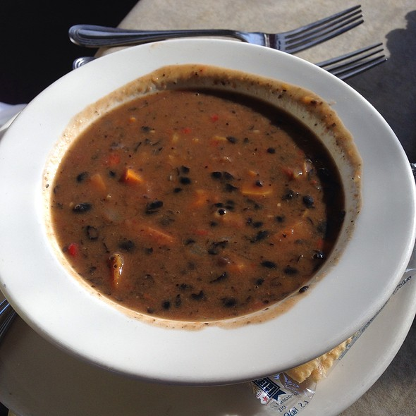 Vegan Black Bean Soup - Storie Street Grille, Blowing Rock, NC