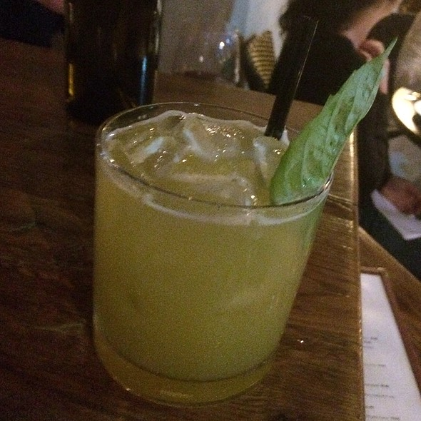 Basil Jalapeno Bourbon Sour - Tin Roof Bistro, Manhattan Beach, CA