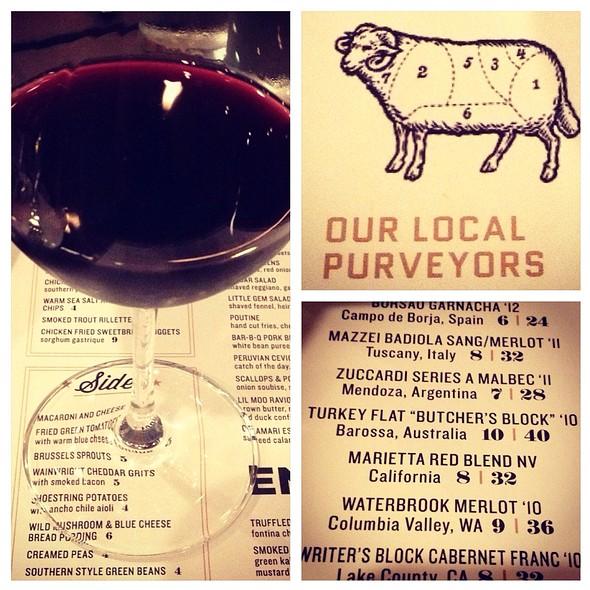 "Turkey Flat ""Butcher's Block"" Barossa - Black Sheep Restaurant, Jacksonville, FL"