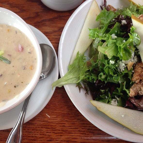 Dungeness Crab Corn Chowder And Walnut Pecan Salad - Ray's Cafe, Seattle, WA