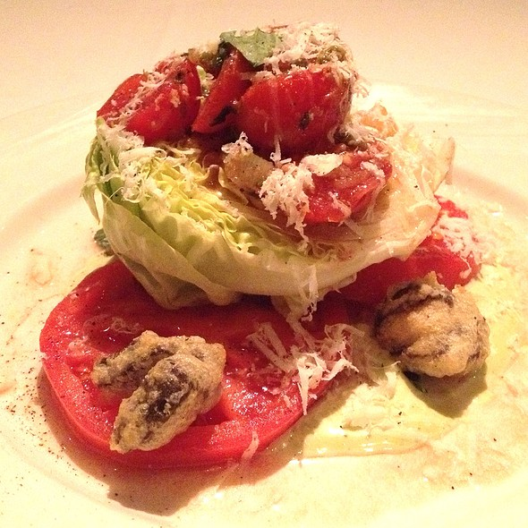 Tomato With Duck Heart Salad - Emeril's Restaurant, New Orleans, LA