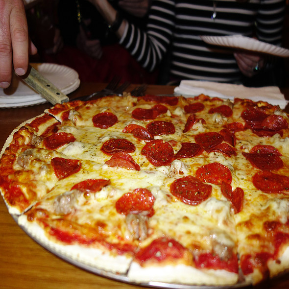 Pepperoni And Sausage Pizza - D'Agostino's - Wrigleyville, Chicago, IL