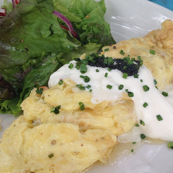 Lobster Omelette - Perla's Seafood and Oyster Bar, Austin, TX