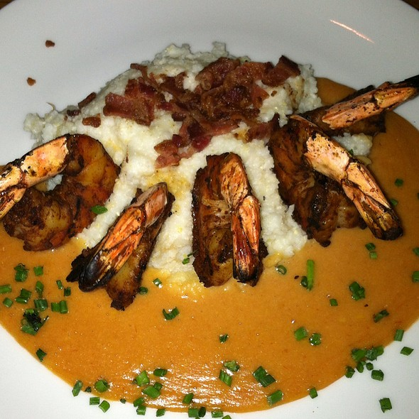 Chili Smoked Prawns & Grits - Stanley & Seafort's, Tacoma, WA