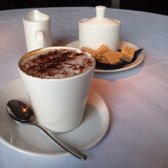 Cappuccino And Tablet - The Grill Room at the Square, Glasgow