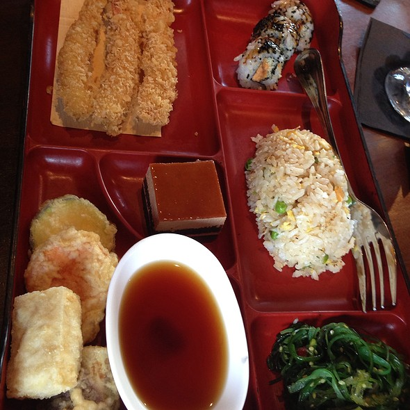 Shrimp Tempura Bento Box - Azuma on the Lake, Sugar Land, TX