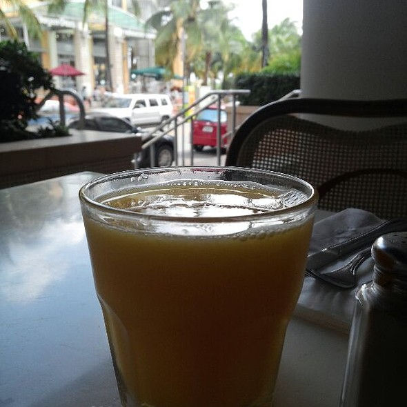 Orange Juice - Front Porch Cafe, Miami Beach, FL