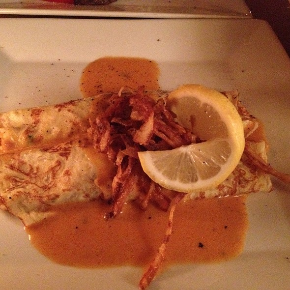 Lobster crepe - Chez Oskar, Brooklyn, NY