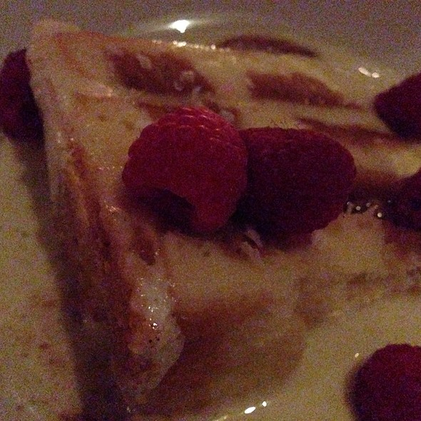 Salted Caramel Tres Leches With Rasberries - Dos Caminos - Park, New York, NY