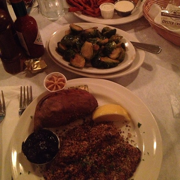 Hazelnut & Cherry Crusted Tilapia - Blue Point Grill, Princeton, NJ