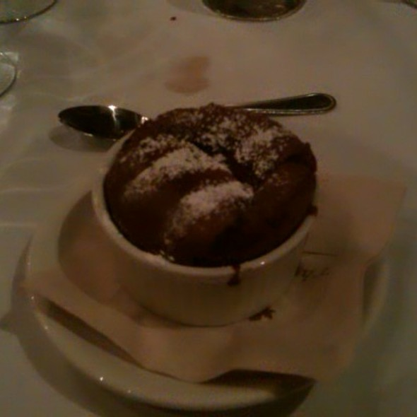 Chocolate Souffle - Maple Leaf Grill, Banff, AB