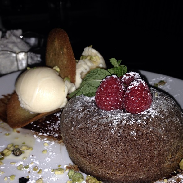 Chocolate Lava Cake - Fleming's Steakhouse - LA, Los Angeles, CA