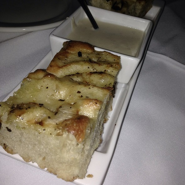 Onion Focaccia Bread With Gorgonzola Cheese Sauce - Johnny V, Fort Lauderdale, FL
