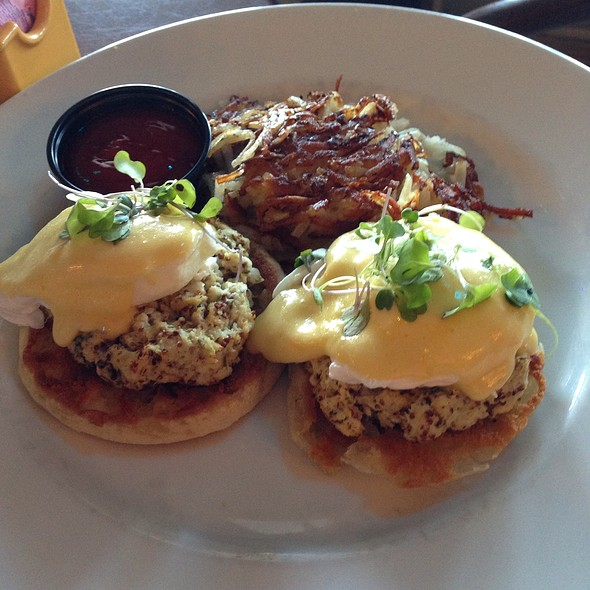 Crab Eggs Benedict - Azure, Daytona Beach Shores, FL