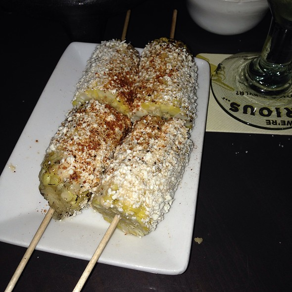 Grilled Corn With Cotija Cheese And Chili Powder - Rojo Mexican Grill - St. Louis Park, St. Louis Park, MN