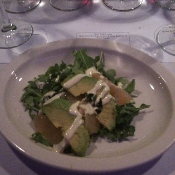 Ruby Red Grapefruit, Avacado, Arugula Salad. White Wine Vinaigrette - Bistro 185, Cleveland, OH