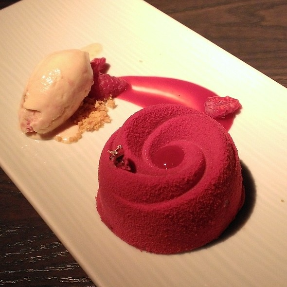Chocolate Raspberry Delice - Yauatcha Soho, London