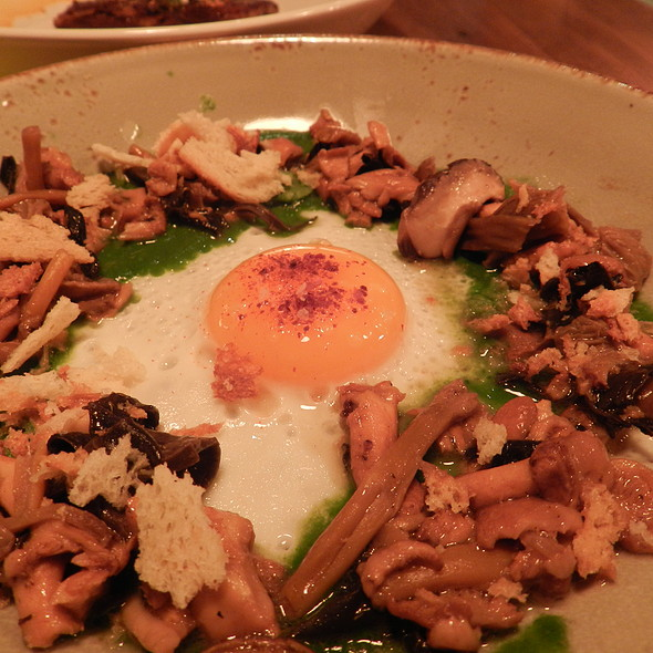 farm egg and wild mushrooms - Puritan & Company, Cambridge, MA