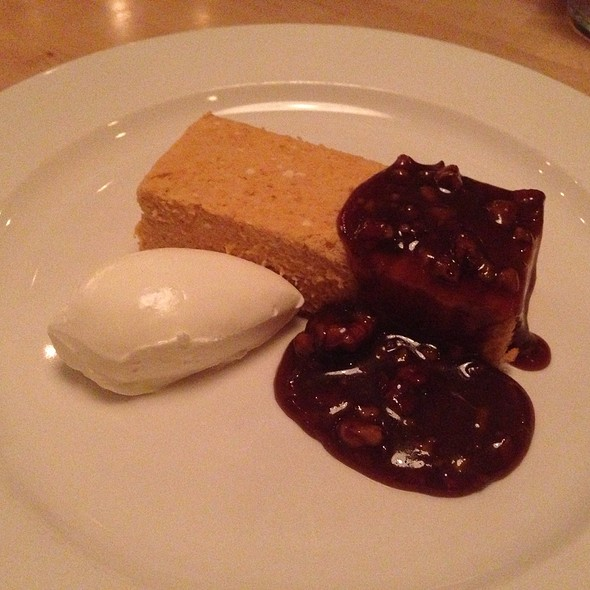 Pumpkin Cheesecake With Pecan Bourban Sauce - Harlan Social, Stamford, CT