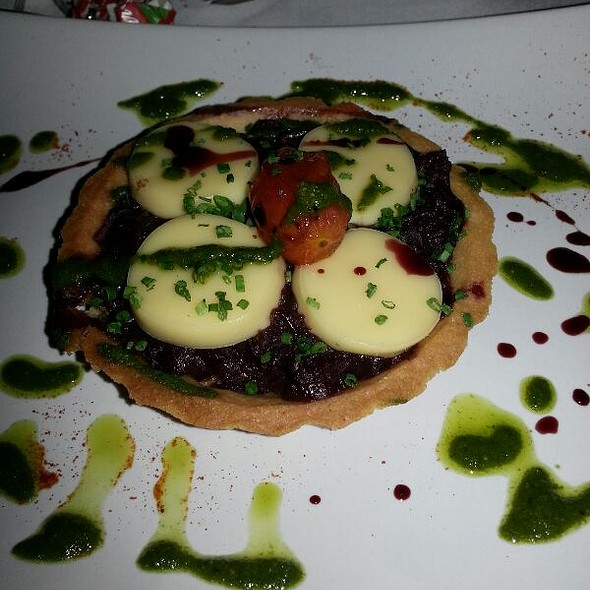 Onion And Goats Cheese Tart - North Pole Bar and Grill, London