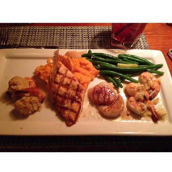 Mixed Seafood Grill - Shrimp, Seafood, Trout, Calamari, Salmon, Lobster, Crab - McCormick & Schmick's Seafood - Troy, Troy, MI