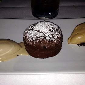 Chocolate Molton Cake With Guiness Ice Cream - Saddle Peak Lodge, Calabasas, CA