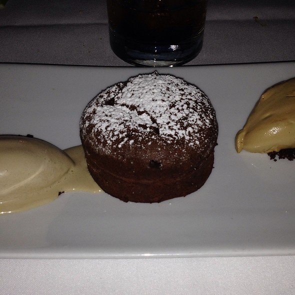 Chocolate Molton Cake With Guiness Ice Cream - Saddle Peak Lodge, Calabasas, CA