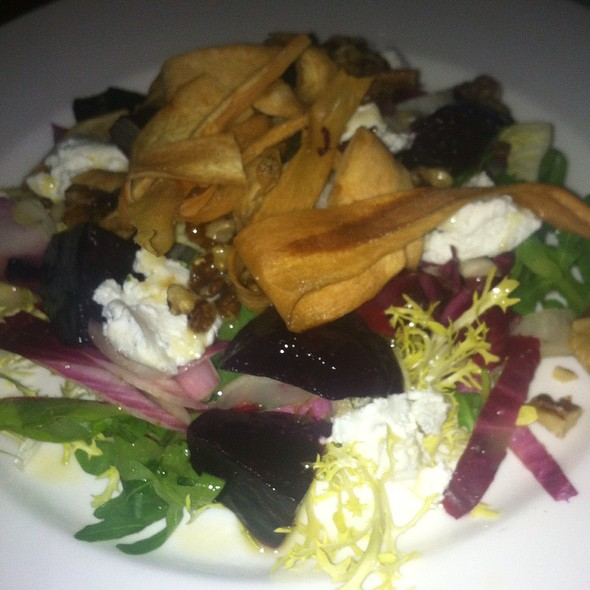 Goats Curd With Beetroot And Parsnip Crisps - The Pheasant at Keyston, Keyston, Cambridgeshire