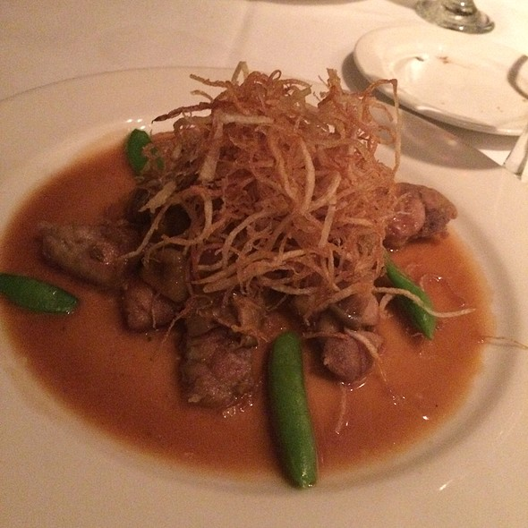 Crispy Sweetbreads With Butternut Squash, Straw Potatoes, And A Madeira Demi Glace - Cadot Restaurant, Dallas, TX