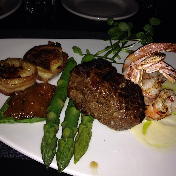 6Oz Fillet Mignon With Grilled Shrimps And Bacon Wrapped Scallops - Morton's The Steakhouse - Anaheim, Anaheim, CA
