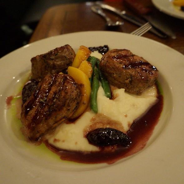 Grilled Pork Tenderloin - Gar Woods Grill and Pier Restaurant, Carnelian Bay, CA