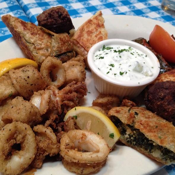 Appetizer Sampler Platter - George's Greek Cafe - Belmont Shore, Long Beach, CA